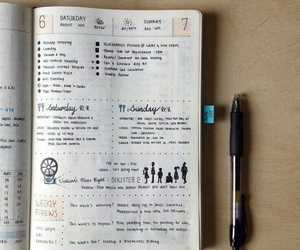 agenda, organization, and bullet journal image