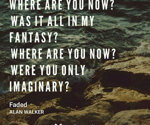 faded, alan walker, and Lyrics image