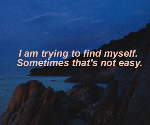 beach, myself, and quotes image