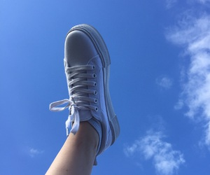 feet, sky, and summer image
