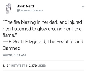 f. scott fitzgerald, quotes, and book quotes image