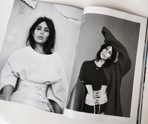 kim kardashian, black and white, and celebrity image