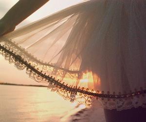 skirt, dress, and sunset image