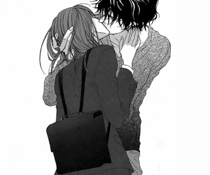 manga, couple, and kiss image