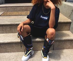 girl, supreme, and fashion image