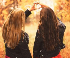 fall, girl, and love image