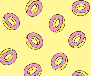 donuts, yellow, and background image
