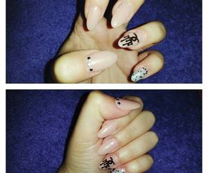 chanel, chanel nails, and nude nails image