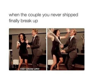 funny, break up, and couple image