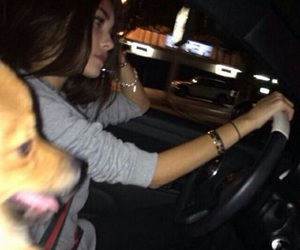girl, madison beer, and dog image