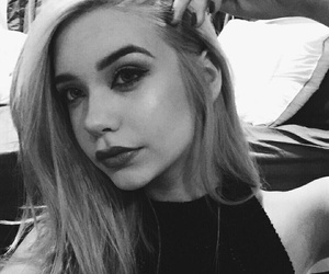 amanda steele, hair, and black image