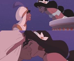 disney, jasmine, and kiss image