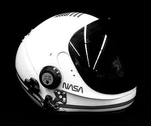 astronaut, science fiction, and black and white image