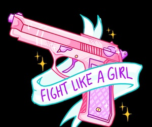 girl, fight, and feminism image