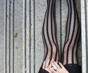 black, legs, and stripes image