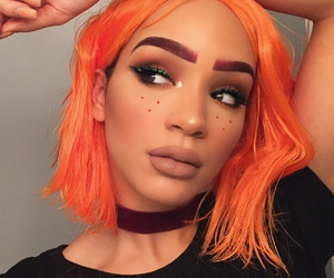 beauty, make up, and orange image