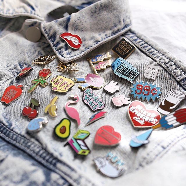 fashion, jacket, and pins image