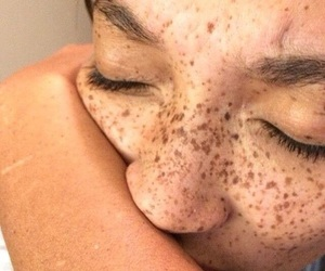 freckles, tumblr, and beauty image