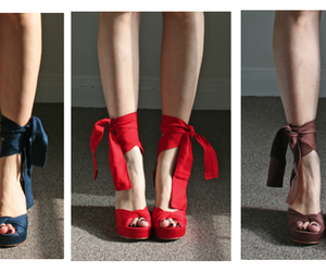 fashion, blue, and red image