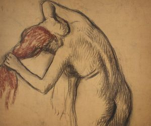 edgar degas, redhead, and sketch image