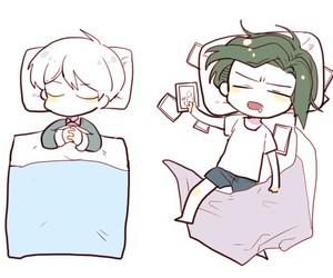 chibi, Dream, and sleep image