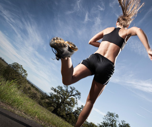 fitness, girl, and running image