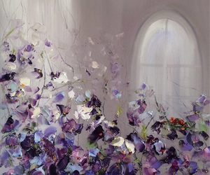 flowers, art, and violet image