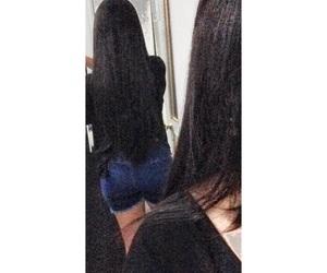 black, hair, and long hair image