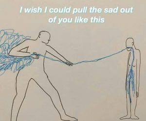 sad, art, and quotes image