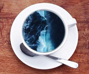 sea, coffee, and ocean image