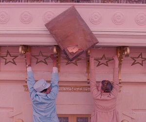 pink, movie, and wes anderson image