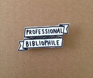 book, bibliophile, and pin image