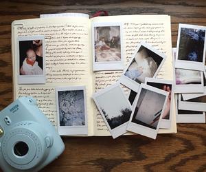 polaroid, journal, and photos image