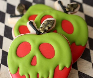 apple, Cookies, and Halloween image