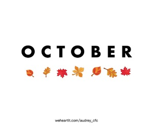autumn, hello, and leaves image