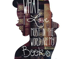 books, bookworm, and love reading image