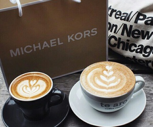 coffee, Michael Kors, and shopping image