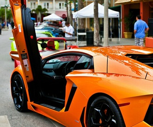 orange, car, and Lamborghini image