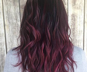 beautiful, hair, and red and black hair image