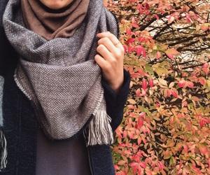 autumn, fall, and hijab image