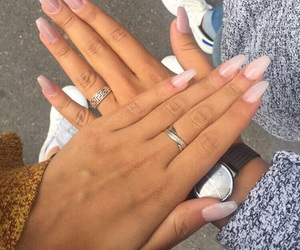 french, nails, and Nude image