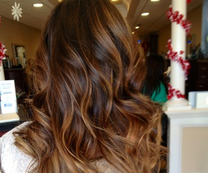 brunette, balayage, and hair image