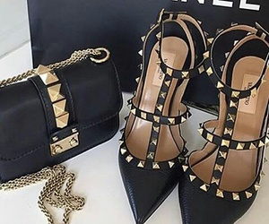 bags, heels, and shoes image