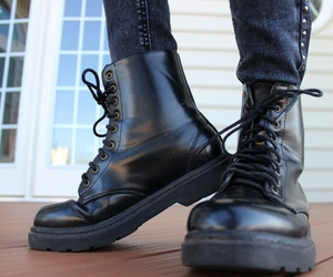 black, boots, and tumblr image