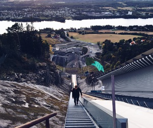 exercise, norway, and walking image