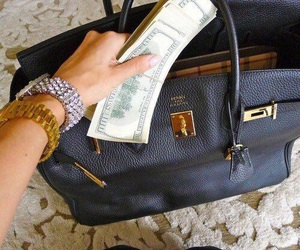 bag, money, and rich image