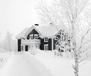 beautiful, house, and snow image