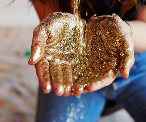 glitter, gold, and magic image
