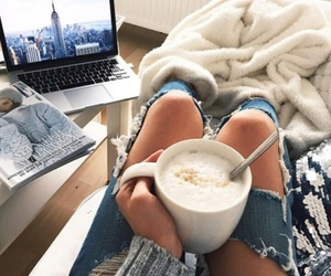 city, cozy, and coffee image