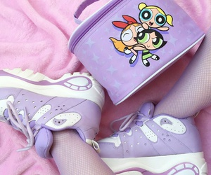shoes, pink, and purple image